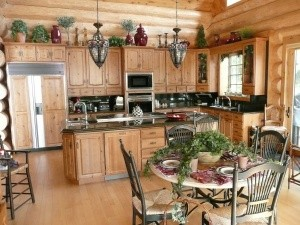 Woodland Logcrafters - Dining and Kitchen Area