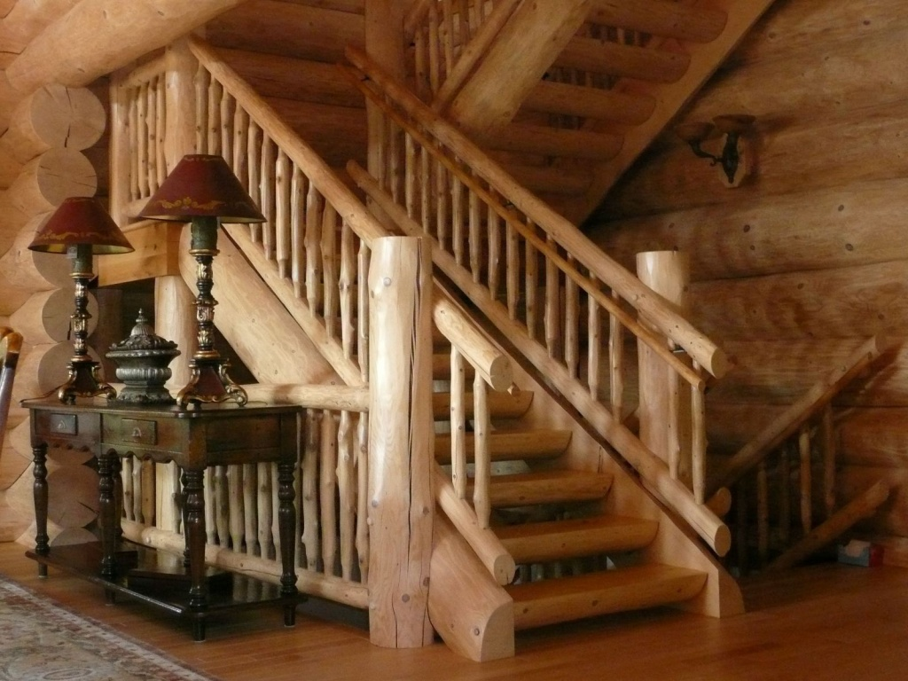 Woodland Logcrafters - Log Cabin Staircase