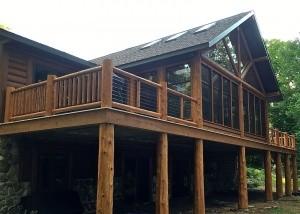 Woodland Logcrafters - Hybrid Log Porch Exterior