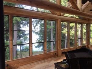 Hybrid Log Porch